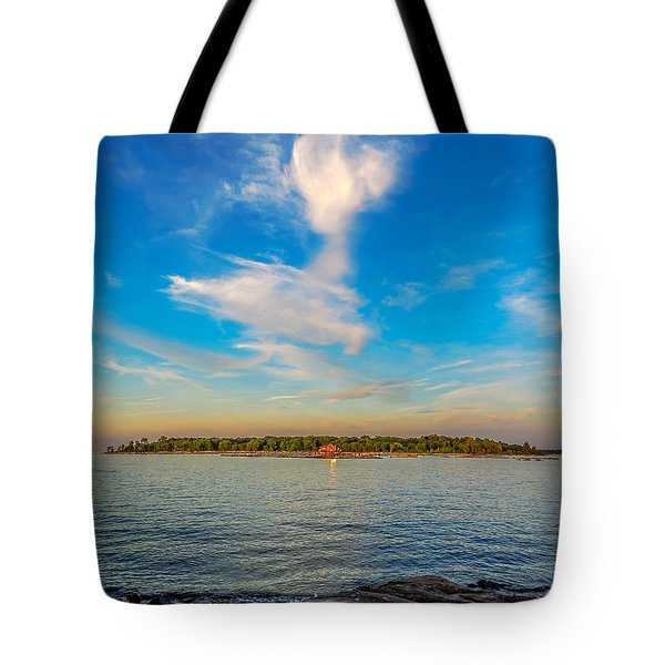 Tote Bag featuring the photograph Angel Overcast by Glenn Feron