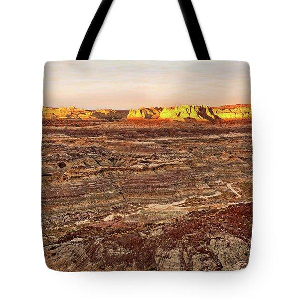 Angel Peak Badlands - New Mexico - Landscape Tote Bag by Jason Politte
