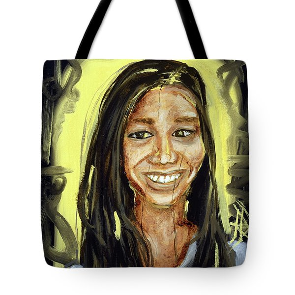 Tote Bag featuring the painting Angel by Ryan Demaree