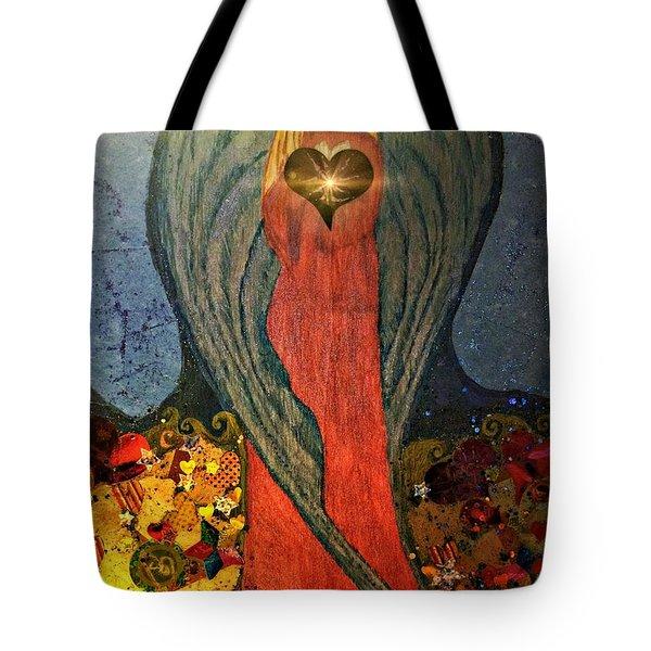 Angel Sails Waves Of Love Tote Bag