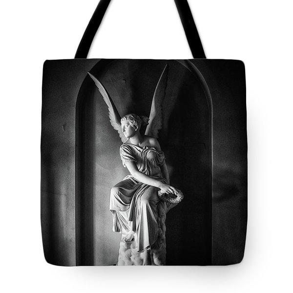 Angel Statue Tote Bag