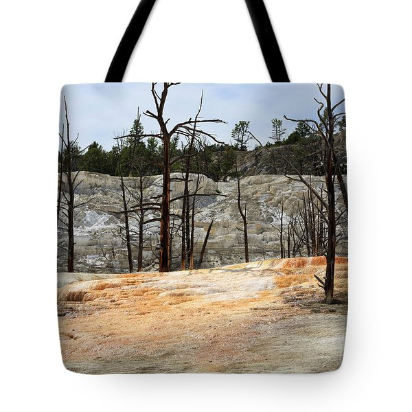 Angel Terrace At Mammoth Hot Springs Yellowstone National Park Tote Bag by Louise Heusinkveld