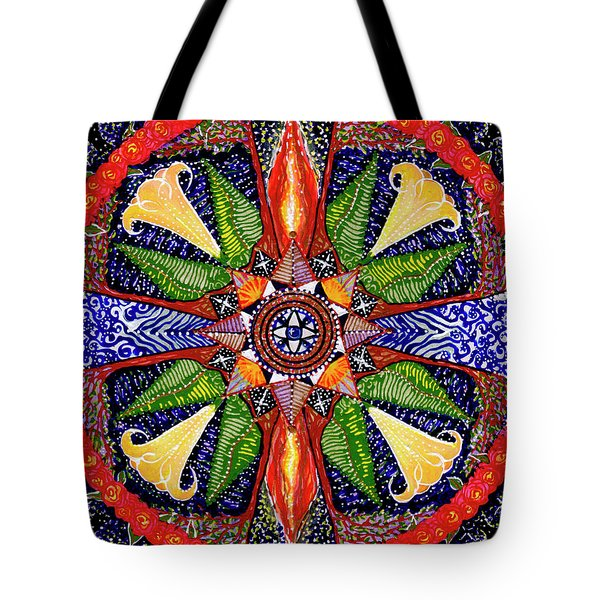 Tote Bag featuring the painting Angel Trumpet by Kym Nicolas