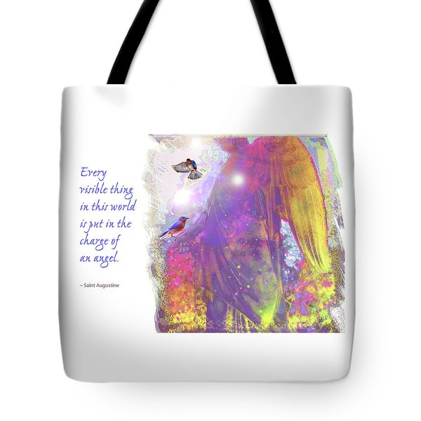 Tote Bag featuring the photograph Angel Vision by Marie Hicks
