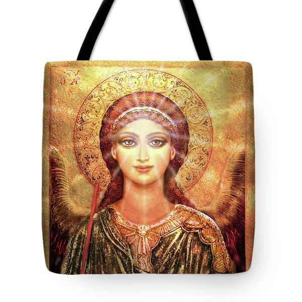 Angel Vision With Light - Green-gold Tote Bag