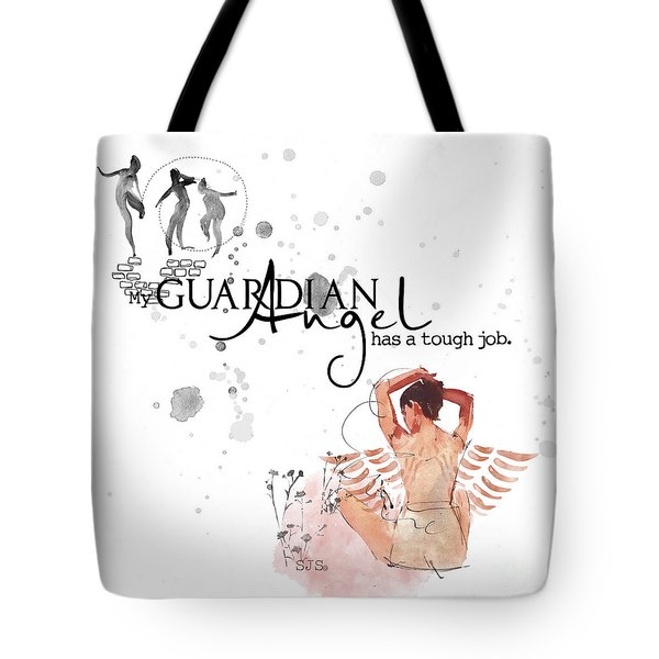 Angel With A Tough Job Tote Bag