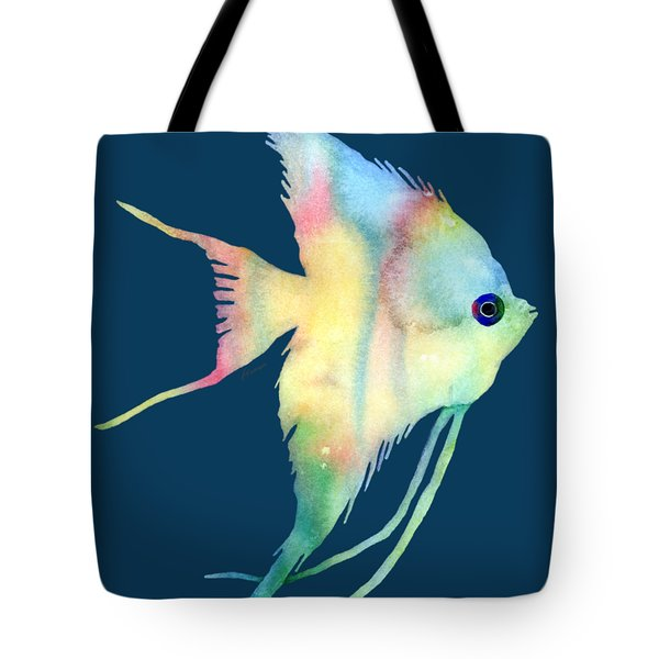Angelfish I - Solid Background Tote Bag