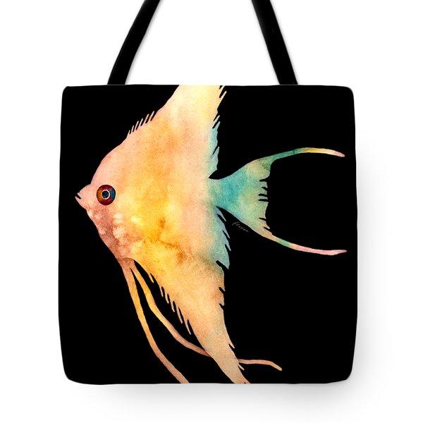 Angelfish II - Solid Background Tote Bag