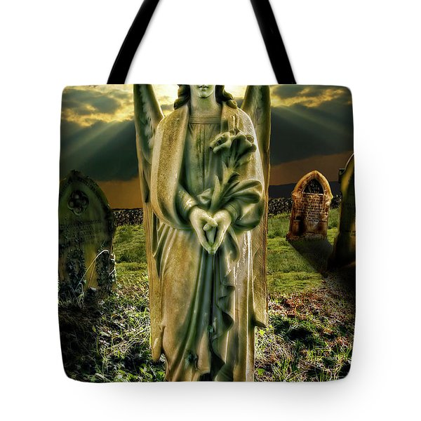 Angelic Light In Color Tote Bag by Meirion Matthias