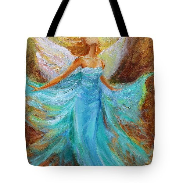 Tote Bag featuring the painting Angelic Rising by Jennifer Beaudet