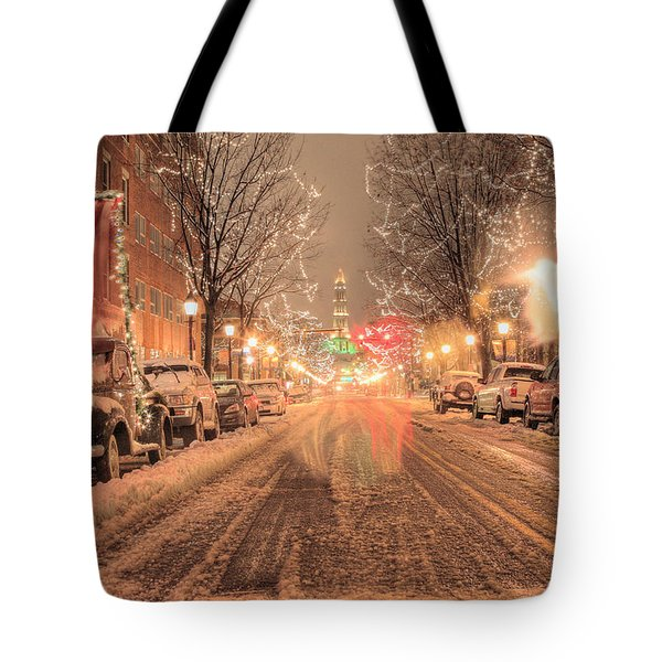 Angelic Snow Tote Bag by JC Findley