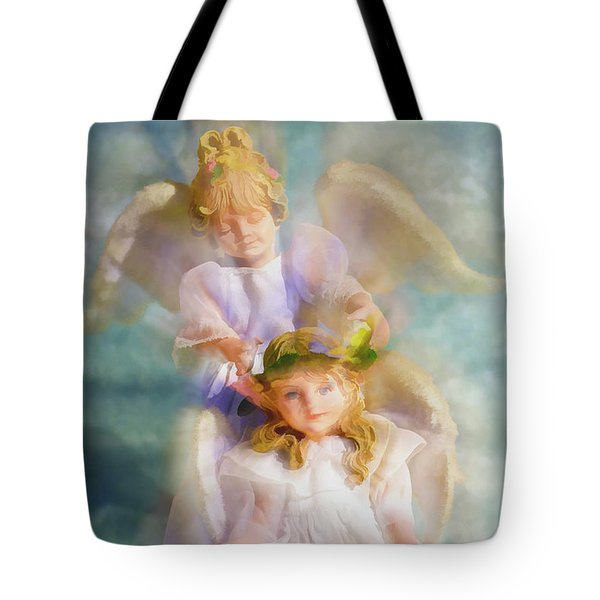 Tote Bag featuring the digital art Angelic by Tom Druin