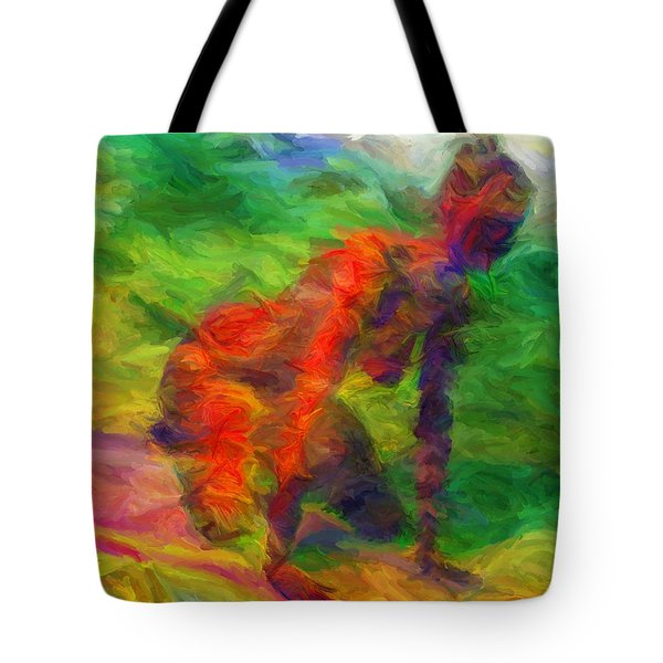 Angelie And The Kneeboard Tote Bag