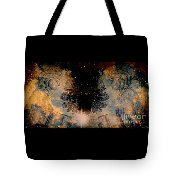 Angels Administering Spiritual Gifts Tote Bag