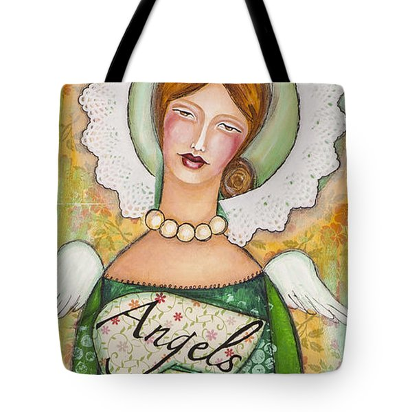 Angels Are Everywhere  Tote Bag by Stanka Vukelic
