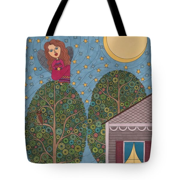 Angels Are Watching Tote Bag