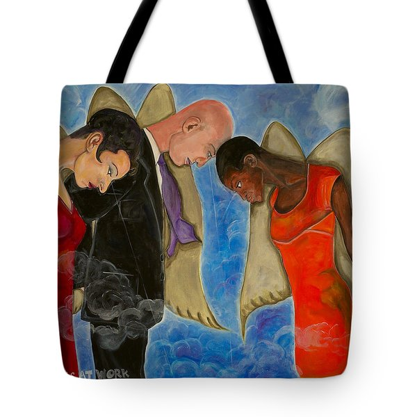 Angels At Work Tote Bag
