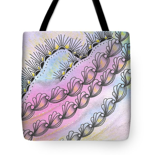 Tote Bag featuring the drawing Angels' Descent by Jan Steinle