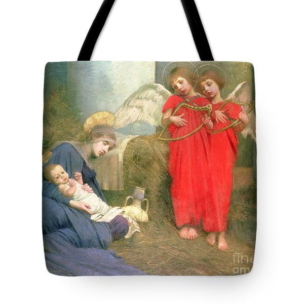Angels Entertaining The Holy Child Tote Bag by Marianne Stokes