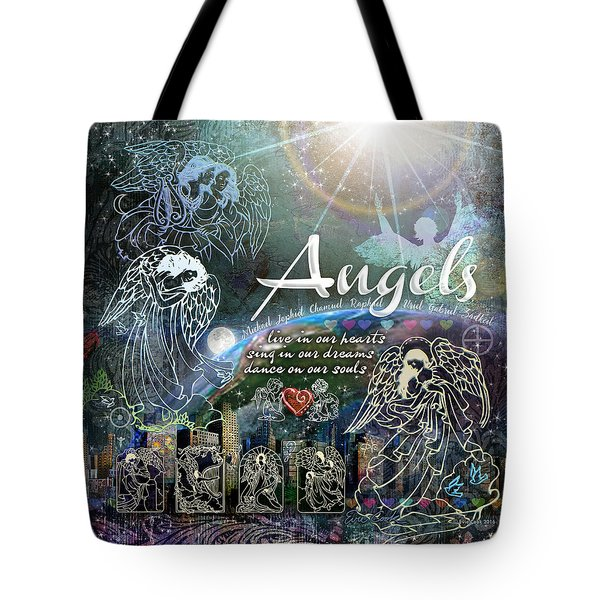 Angels Tote Bag by Evie Cook
