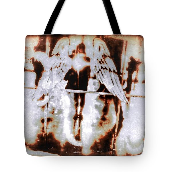 Angels In The Mirror Tote Bag