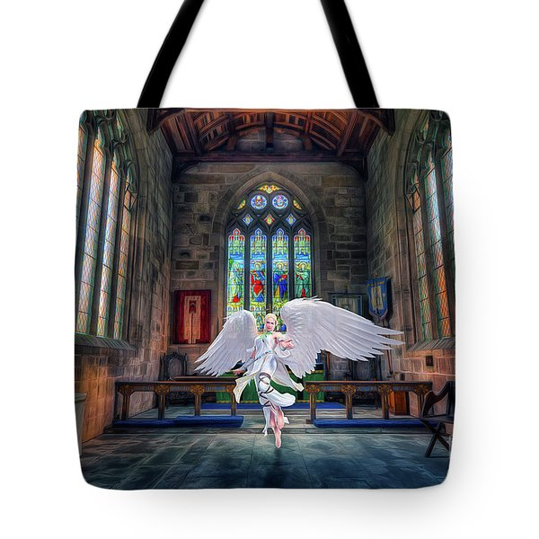 Angels Love And Guidance Tote Bag