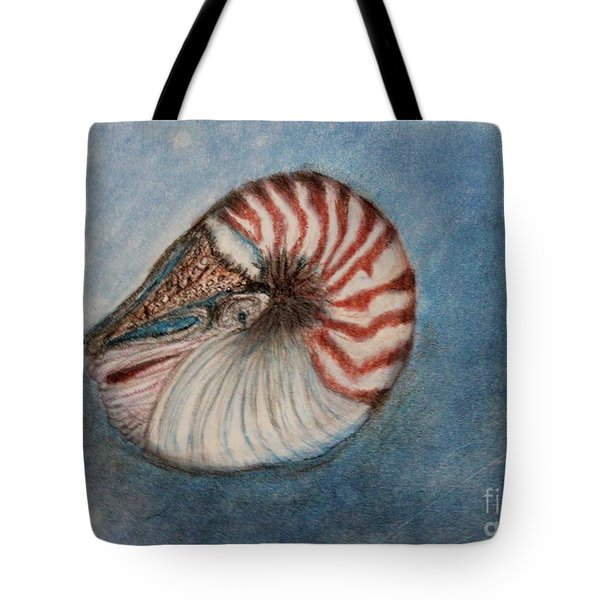 Tote Bag featuring the painting Angel's Seashell  by Kim Nelson