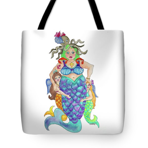 Tote Bag featuring the painting Angels Swim Among Us by Rosemary Aubut