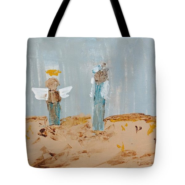 Angels Taking Care Of E Tote Bag