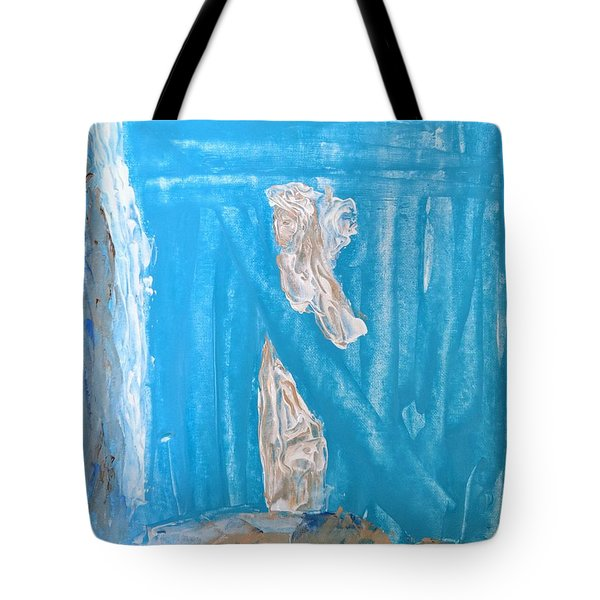 Angels Under A Bridge Tote Bag