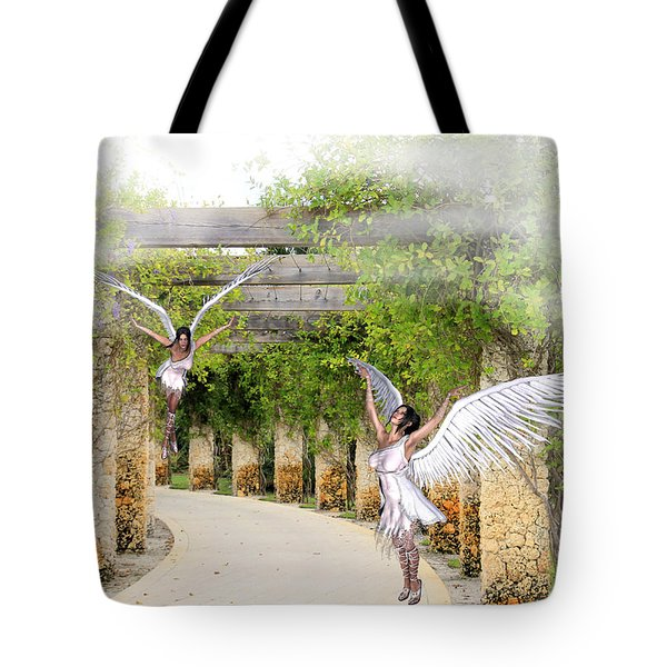 Angels Under The Arbor Tote Bag