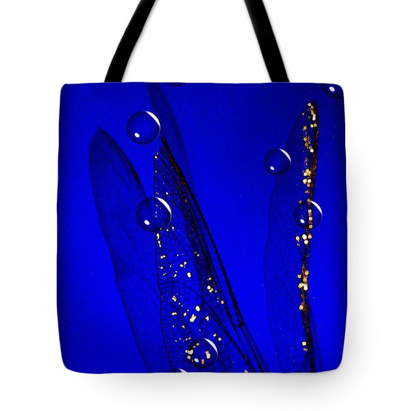 Angels Wings Blue Tote Bag by Joyce Dickens