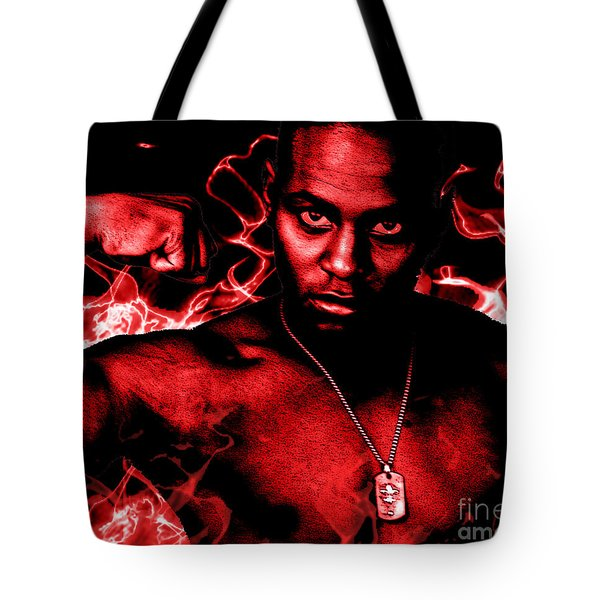 Tote Bag featuring the painting Anger by Tbone Oliver