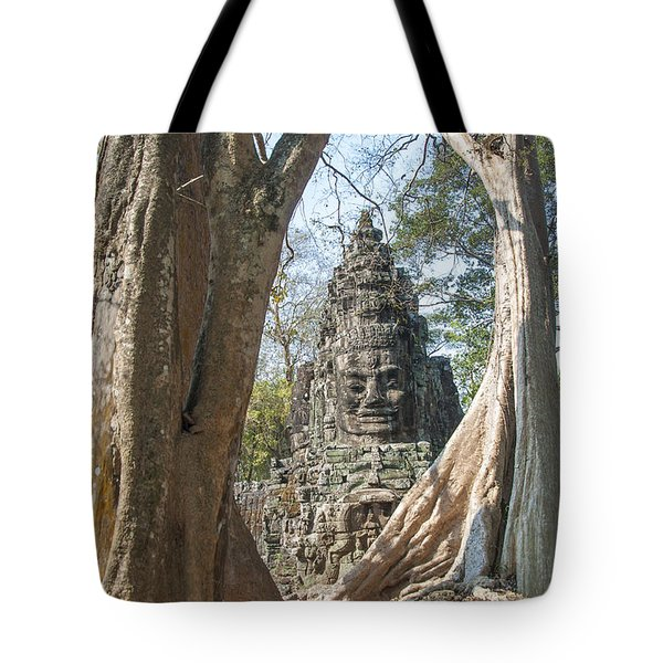 Tote Bag featuring the photograph Angkor Thom South Gate by Rob Hemphill