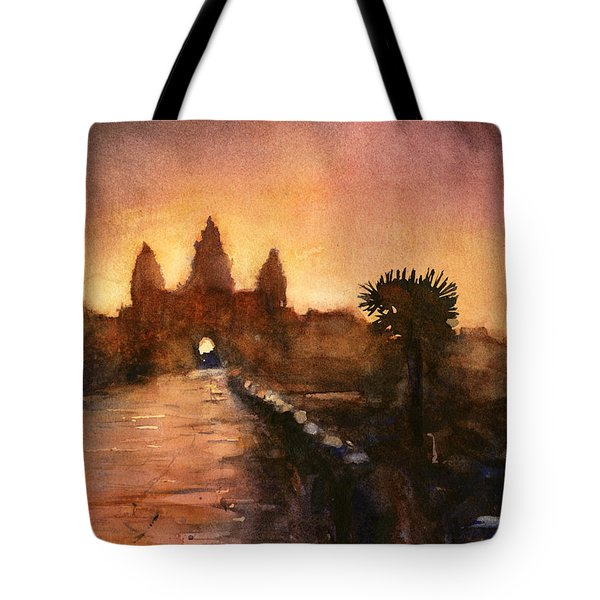 Angkor Wat Sunrise 2 Tote Bag by Ryan Fox
