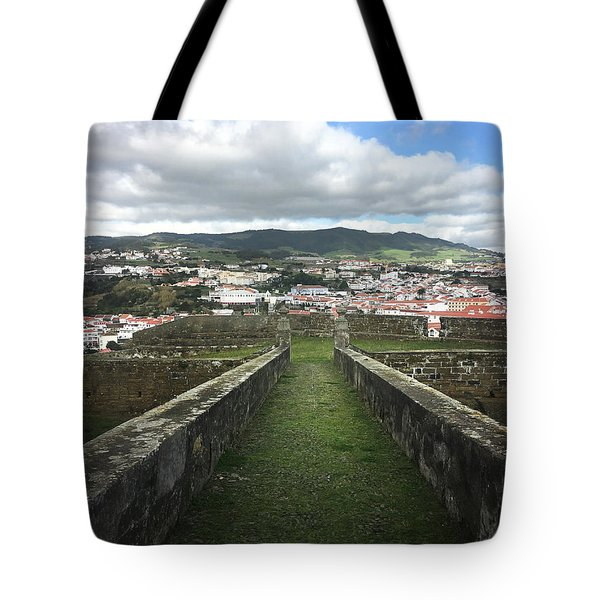 Angra Do Heroismo From The Fortress Of Sao Joao Baptista Tote Bag