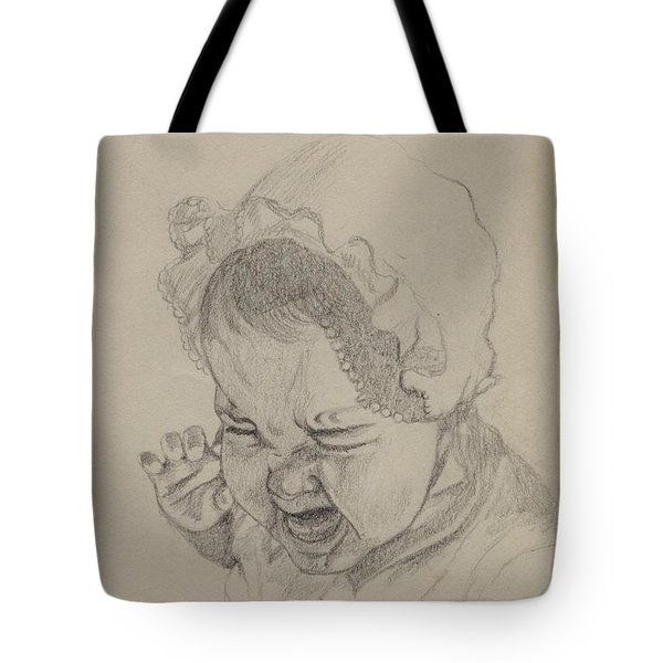 Tote Bag featuring the drawing Angry by Annemeet Hasidi- van der Leij
