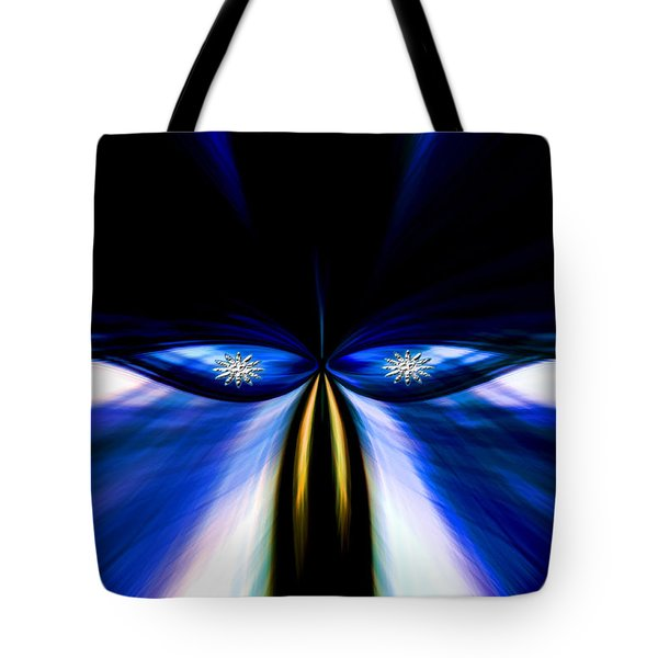 Angry Blue Bird Tote Bag