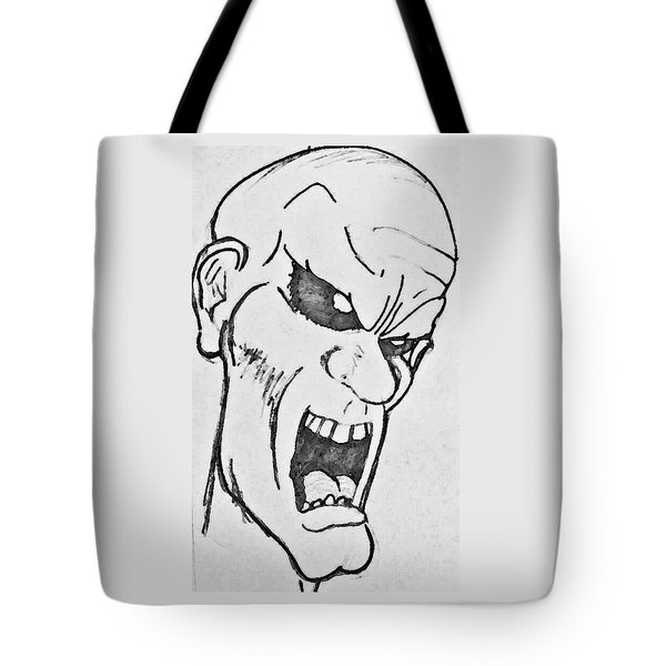 Angry Cartoon Zombie Tote Bag by Yshua The Painter