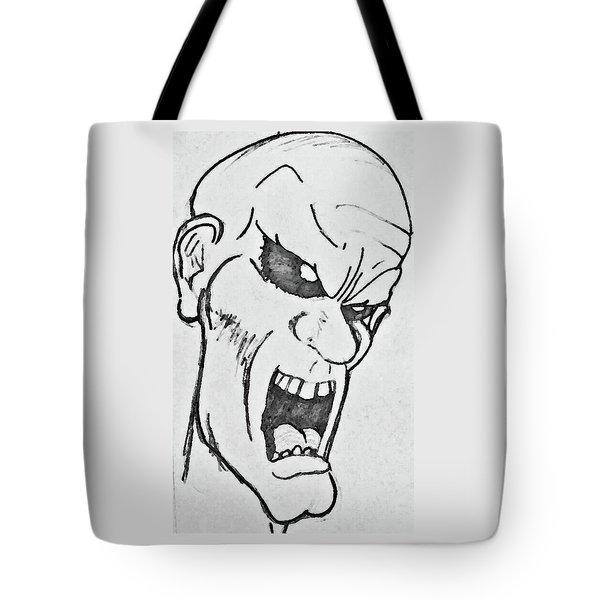 Angry Cartoon Zombie Tote Bag