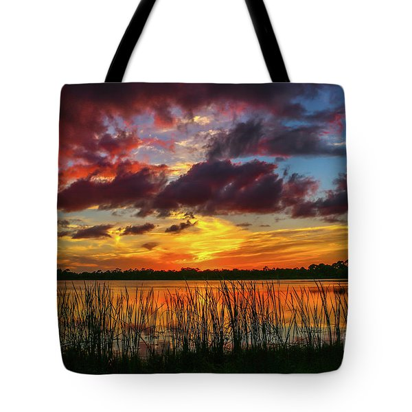 Angry Cloud Sunset Tote Bag