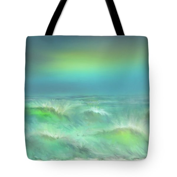 Tote Bag featuring the digital art Angry Irma by Darren Cannell