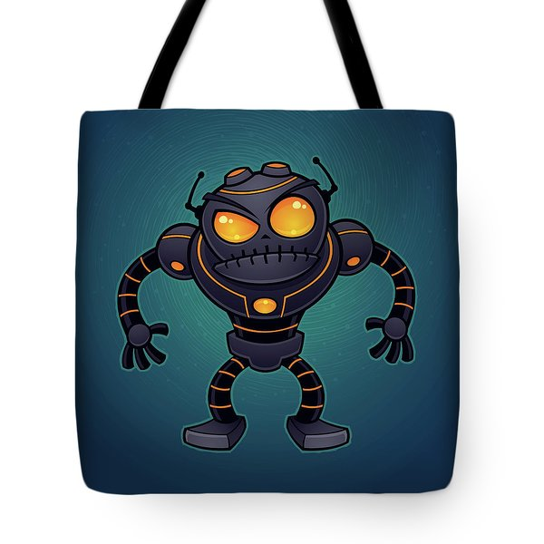Angry Robot Tote Bag by John Schwegel