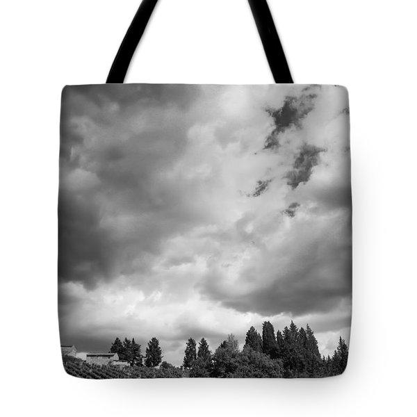 Angry Skies - Mono Tote Bag by David Warrington