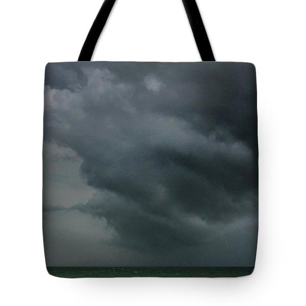 Angry Storm At Lido Beach Tote Bag