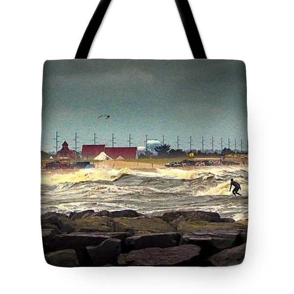 Angry Surf At Indian River Inlet Tote Bag