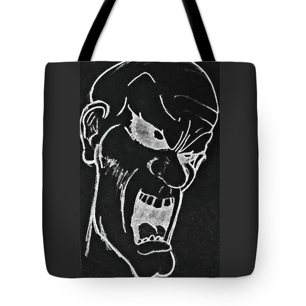 Angry Zombie In Negative Tote Bag