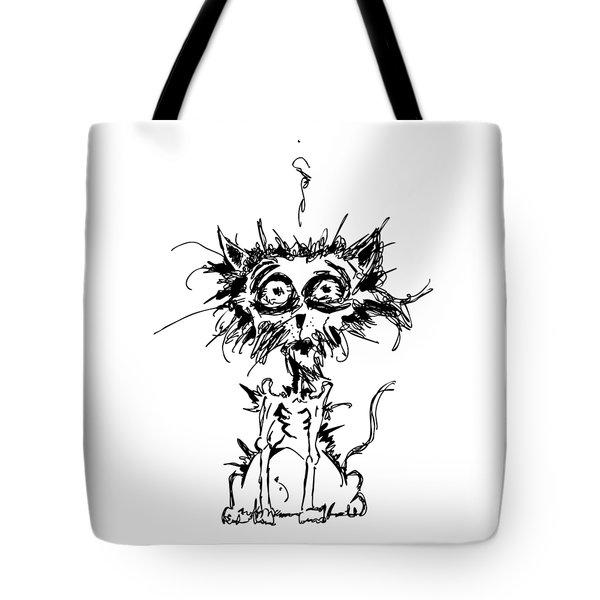 Angst Cat Tote Bag