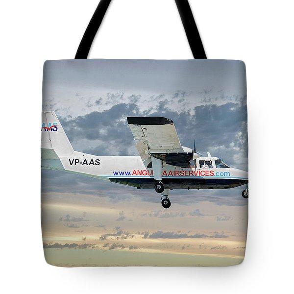 Anguilla Air Services Britten-norman Bn-2a-26 Islander 114 Tote Bag