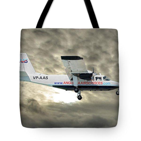 Anguilla Air Services Britten-norman Bn-2a-26 Islander 115 Tote Bag